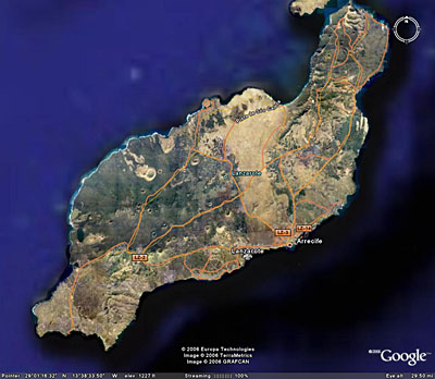 Схематическая карта острова