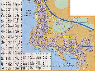 Старая карта города Санта Круз