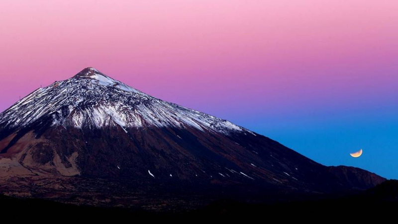 Лунное затмение. Тенерифе.  Un eclipce lunar en Tenerife