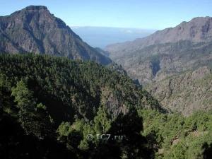 Горы вулканы Ла Пальма